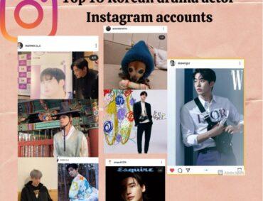 Top 10 Korean Drama Actor Insta