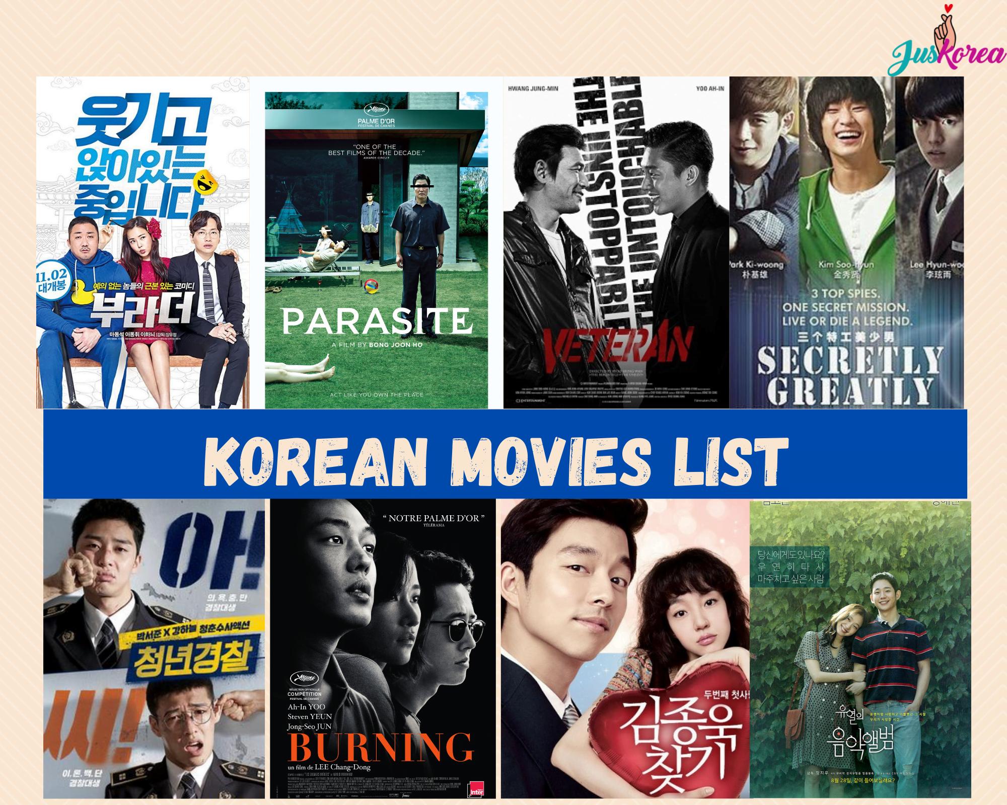 South Korean Movies Listing